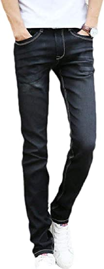 Fly Year-JP メンズデニム ウォッシュ ストレート ストレッチ ファッション ジーンズ パンツ