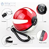 iKlipStore® Pokemon GO 1.5 A Pokeball Portable Cell Phone Charger, USB Power Bank for Mobile External Battery for iPhone, Samsung, LG, Nexus, HTC, Charger Included LED Lights High Capacity Power 10,000 mAh