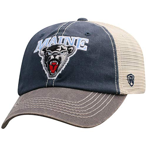(Top of the World Men's Relaxed Fit Adjustable Mesh Offroad Hat Team Color Icon, Maine Black Bears Navy,)