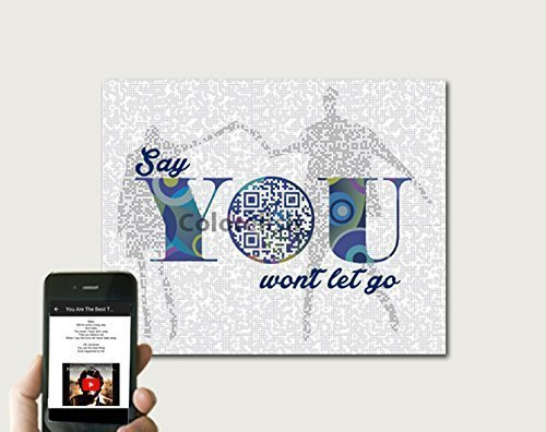 Say You Won't Let Go By James Arthur inspired Song Art, Wedding Anniversary Gift for Him, First Dance Song Lyric Print, 10x8 Print Only