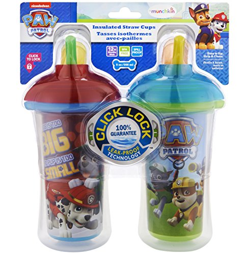 Munchkin Paw Patrol Click Lock Insulated Straw Cup 2 Pack