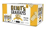 The Safe + Fair Food Company Remy's Grahams – Nut Free Graham Crackers – Non GMO, Whole Grain, Clean Label Snacks - Honey, 36 Count