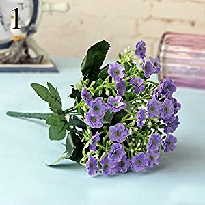 FYYDNZA Milan Lilac Flower Fake Plants For Wedding Decoration Artificial Wildflower Home Decoration Wreath Corsage 84