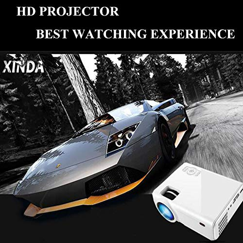 Mini Video Projector, XINDA 2800Lux Video Projector with 187'' Display 50,000 Hours LED Full HD Video Projector 1080P,Compatible with Fire TV Stick,HDMI, VGA, USB, AV, SD for Home Theate … by XINDA (Image #2)