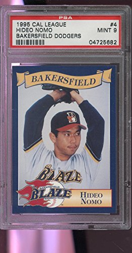 1995 Cal League Bakersfield Dodgers Blaze #4 Hideo Nomo ROOKIE Card PSA 9 Graded