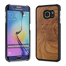 Cover-Up #WoodBack Real Wood Snap Case for Samsung Galaxy S6 Edge - (Carpathian Elm Burl)