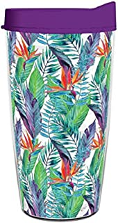 product image for Smile Drinkware USA-BIRDS OF PARADISE WATERCOLOR 16oz Tritan Insulated Tumbler With Lid and Straw