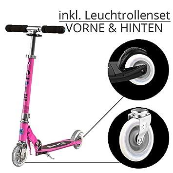 Micro Scooter Sprite Rosa Incluye Bombilla ruedas: Amazon.es ...