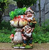 Design Dwarf NF 15199 mushroom with flower pot 32 cm high decoration garden garden dwarf figurines decoration various design