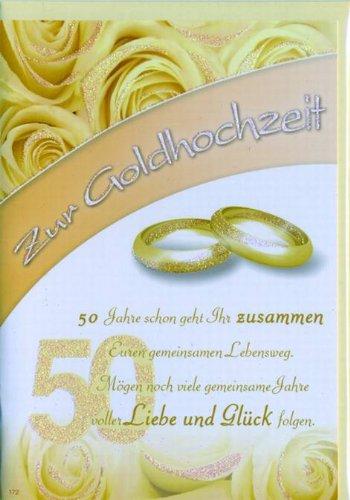 Tarjeta, bodas de oro diseño rosas rojas, unidad del paquete: 10 ...