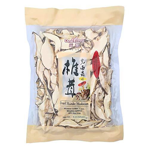 ONETANG Shiitake Mushroom Slices, Dried Shiitake Slices, No Fumigation Sulfur 8 Oz by ONETANG