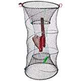 Promar TR-503 Crawfish/Bait Trap, 24-Inch by 12-Inch Collapsible Black Netting