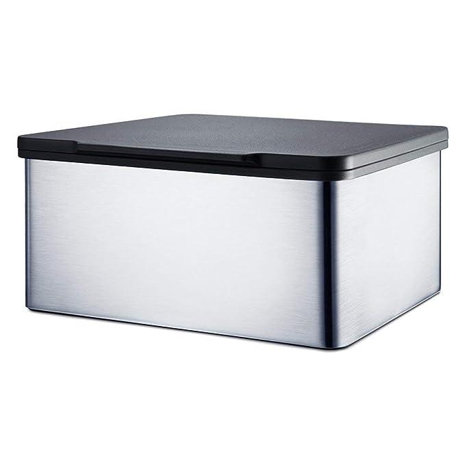 Blomus Menoto Caja para Toallitas Húmedas, Caja para Paños Húmedos, Acero Inoxidable Pulido, 7.5x15x13cm, 68822: Amazon.es: Salud y cuidado personal