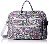 Vera Bradley Iconic Grand Weekender Travel Bag, Signature Cotton, Lavender Meadow