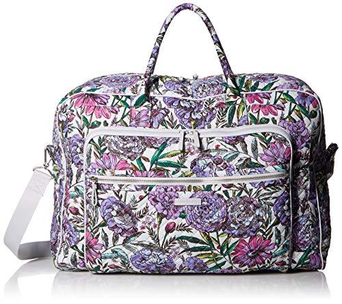 Large Weekender - Vera Bradley Iconic Grand Weekender Travel Bag, Signature Cotton, Lavender Meadow