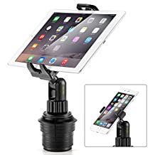 iKross 2-in-1 Adjustable Swing Cup Mount Holder Car Kit For iPad Tablets iPhone Cellphone Smartphones GPS