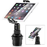 iKross Smartphone / Tablet Cup Mount Holder Car Cradle Kit - Black (Cup mount arm length 5.5 inches)