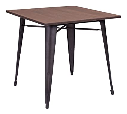 Amazon.com - Industrial Wood and Metal Dining Table - Tables