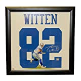 Jason Witten Autographed Framed 23x23 Jersey Print with Photo - Certified Authentic