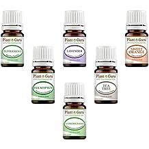 Essential Oil Variety Set Kit - 6 Pack - 100% Pure Therapeutic Grade 5 ml. Set includes- (Peppermint, Lavender, Sweet Orange, Lemongrass, Eucalyptus & Tea Tree)