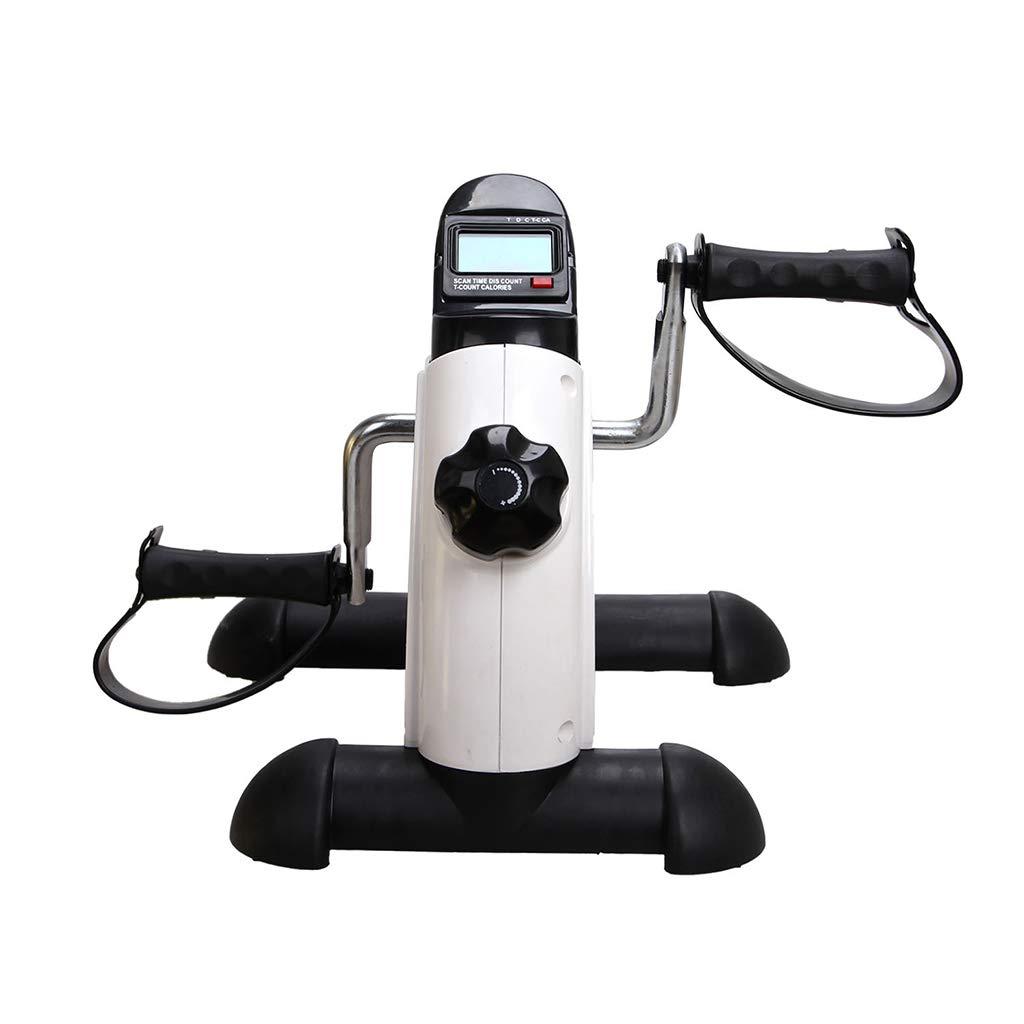 WXX Pedal Trainer, Portable Sports Pedal Bike-Adjustable Spannung, Falkenzyklus mit elektronischem Display und Griffen-Bein-und Armdesign