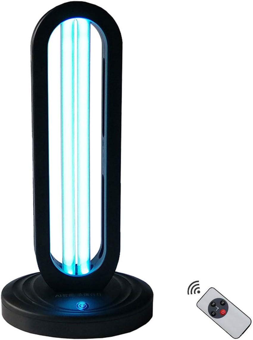 UV Light Sanitizer Quartz tube Ozone UV Disinfection Lamp for Room Sanitizer Lamp for Living Room, Bedroom, Household, Kitchen, Hotel, Pet Area With Remote Control 110V 38W