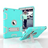 iPad Air Case - iPad 5 Case - Dooge Three Layers PC&Silicon Armor Defender Heavy Duty Shock-Absorption Rugged Hybrid Full Body Protective Case with Kickstand for Apple iPad Air iPad 5 (2013 Model)