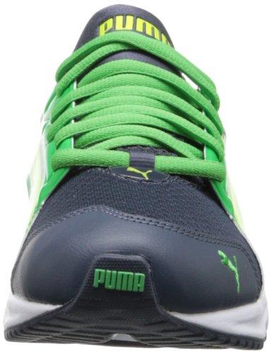 Puma Heren Powertech Blaze Voldaan Nm Loopschoen Ombre Blauw / Groen Eiland / Fluorescerend Geel