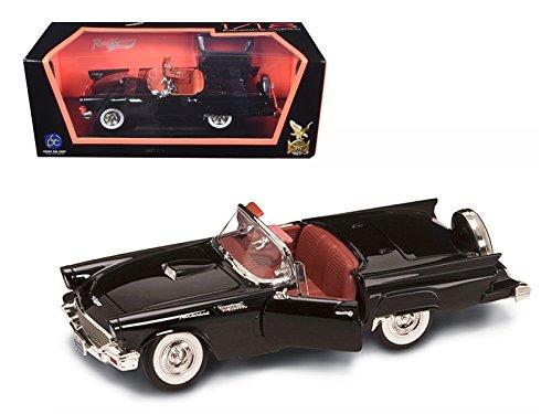 Black Thunderbird Model - Maisto 1957 Ford Thunderbird Black 1/18 Model Car by Road Signature