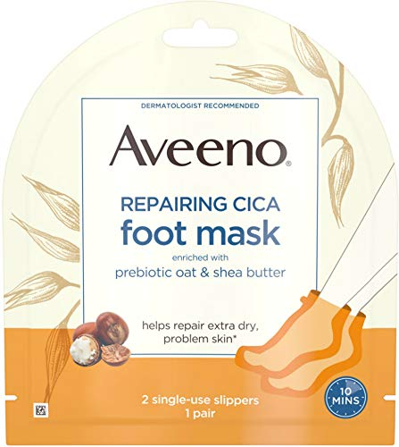 Aveeno Repairing CICA Foot Mask with Prebiotic Oat and Shea