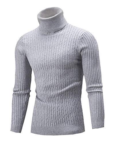 Fashion Roulé Longues Loisir Hommes Pull Grau À Manches Sweater Hiver Vêtements Saoye Col HgnpFqdq