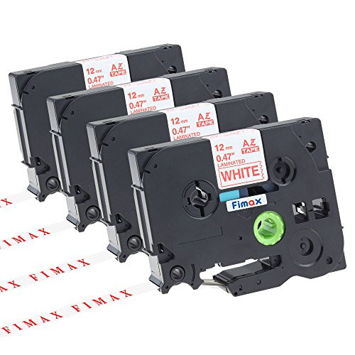 Fimax 4 Pack Standard Laminated Label Tapes Compatible Fo...