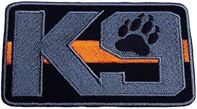 Parche Bordado de Perro con Cinta de Velcro 9 cm Aprox. MAREL Patch K-9