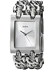 GUESS Womens Stainless Steel Multi-Chain Bracelet Watch, Color: Silver-Tone (Model: G75916L)