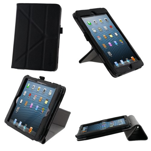 rooCASE Origami Dual-View Vegan Leather Folio Case Cover for iPad Mini
