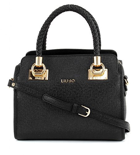 BORSA LIU JO BAULETTO M ANNA N17084 E0087 NERO/LIGHT GOLD
