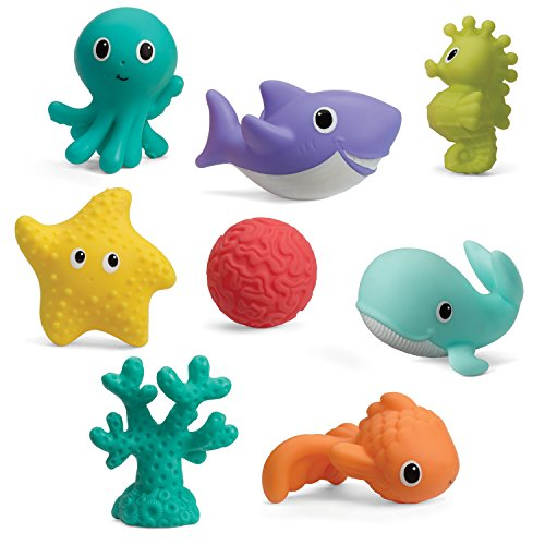Infantino Aquarium Bath Squirters (Sidekicks Squirters Seaside)