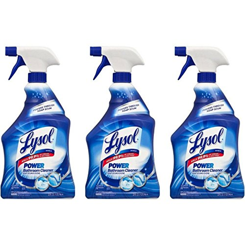 Lysol Power Bathroom Cleaner Spray, Island Breeze, 32 oz (Pack of 3)