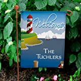 "Lighthouse Personalized Double Sided Garden Flag, 12 1/2"" w x 18"" h, Polyester Review"