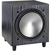 Monitor Audio - Bronze W10 Subwoofer - Black Oak Veneer