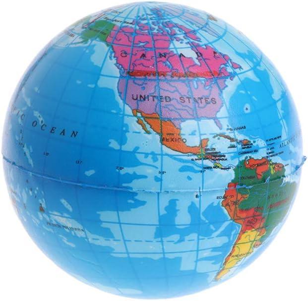 ATATMOUNT Aumento rapido Spremere Antistress Rilievo dello Stress Mappa del Mondo Palla Pianeta Terra