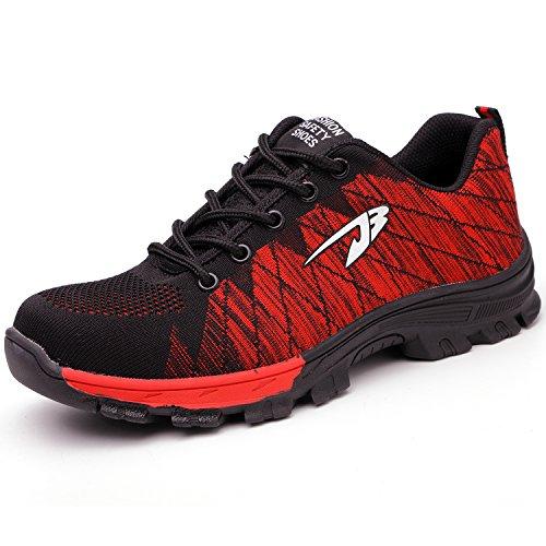 de s3 COOU en Protection Chaussure de Acier avec de Protection Et Travail Sécurité Unisexes de Embout Semelle Respirant Chaussures IxI5qrT