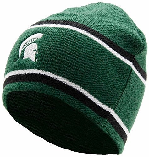 NCAA Michigan State Spartans Adult Women Holloway Engager Beanie, One Size, Forest/Black/White