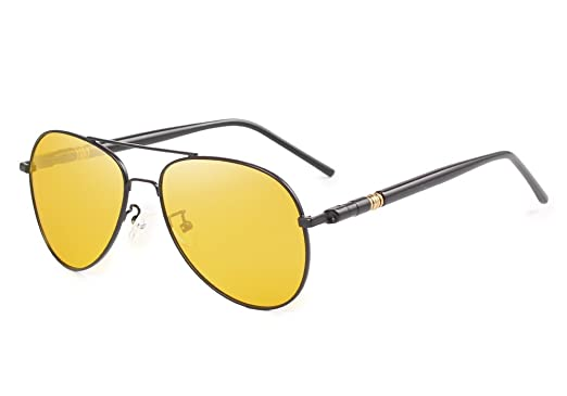 8c252f62afc1 KINGSEVEN Brand Night Vision Polarized Sunglasses Men Driving Sun Glasses  For Women Good Quality Goggle Glasses Men N709 (BLACK YELLOW)   Amazon.co.uk  ...