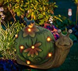 Garden Statue Snail Figurine - Solar Powered