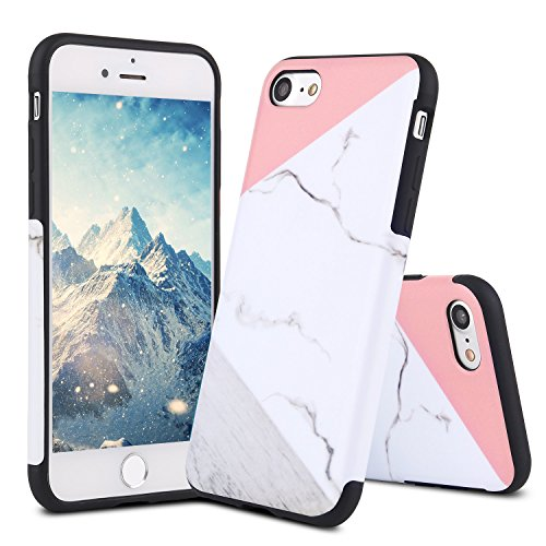 - For iPhone 6 Plus Case, iPhone 6S Plus Cover, LCHULLE Premium Slim Fitted Granite Marble Natural Stone Soft TPU Cover, Glossy Texture Pattern Anti-Scratch Back Protective Bumper Case Cover-Color Pink