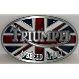 TRIUMPH A BREED APART NEW HIGH QUALITY OVAL MOTORCYCLE BELT BUCKLE FOR BELTS. WE SHIP FROM CORNWALL, ONTARIO, CANADA! OUR BELT BUCKLES MAKE EXCELLENT GIFTS! LEATHER BELTS WESTERN BUCKLES KIDS BUCKLES