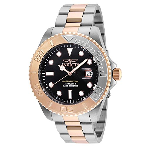 Invicta Men's 'Pro Diver' Quartz Stainless Steel Diving Watch, Color:Two Tone (Model: 24625) by Invicta