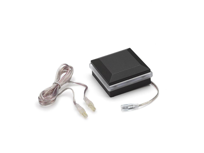 TREX BKALCAPLED25 LED Aluminum Post Cap Light-Charcoal Black, Charcoal Black/Classic White/Bronze