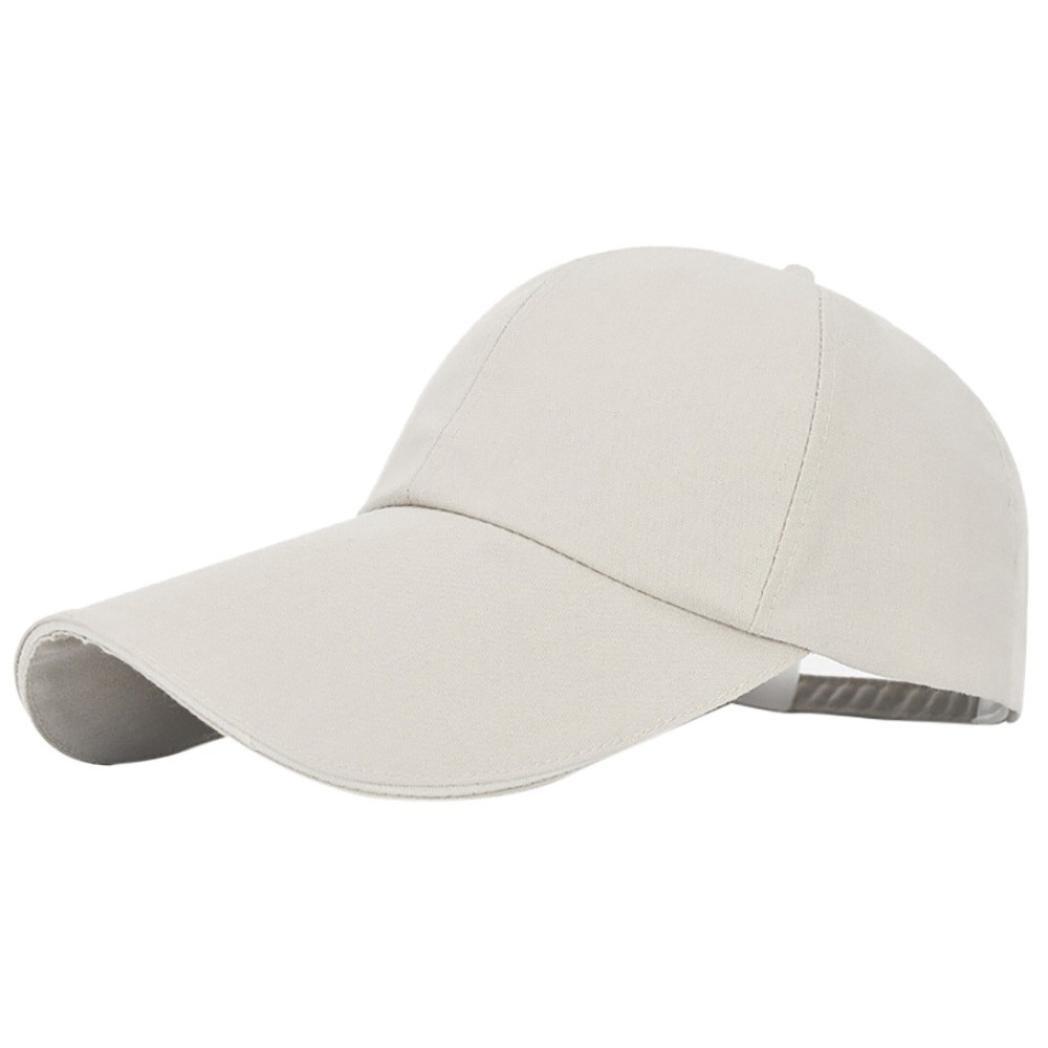 e1692aae0 Amazon.com: UMFun Unisex Baseball Cap Solid Color Snapback Hat Sun ...